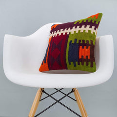 Geometric_Multiple Color_Kilim Pillow Cover_16x16_A0209_6264