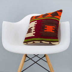 Geometric_Multiple Color_Kilim Pillow Cover_16x16_A0209_6266