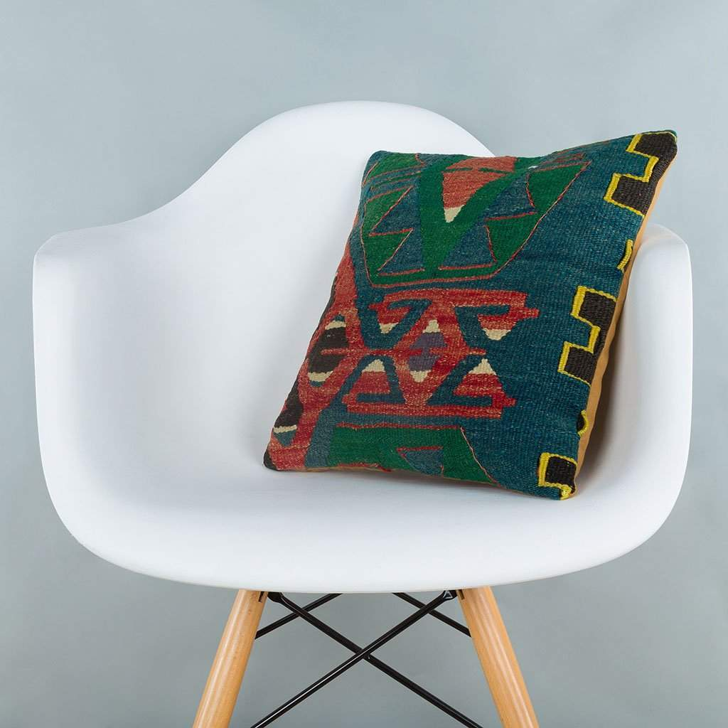 Geometric Multiple Color Kilim Pillow Cover 16x16 7188