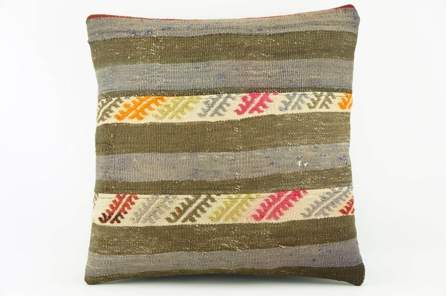 Gray and green  Kilim  pillow cover, old  pillow, ethnic  pillow , Outdoor pillow   2133