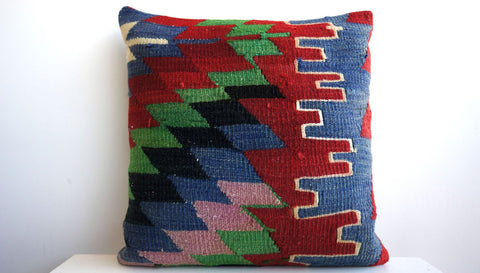 CLEARANCE Chevron pillow 16'' 135 - kilimpillowstore  - 1
