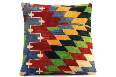 CLEARANCE Multi colour pillow 16'' 419 - kilimpillowstore  - 1