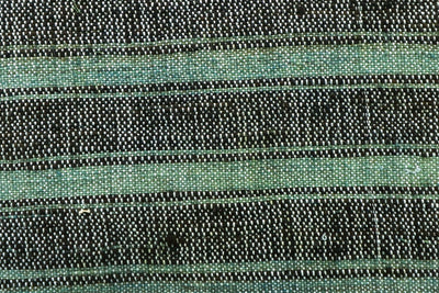 CLEARANCE 16x16 Vintage Hand Woven Turkish Kilim Pillow  - Old Kilim Cushion  377, light green , gray,, teal , abrasion, striped,  faded - kilimpillowstore  - 2