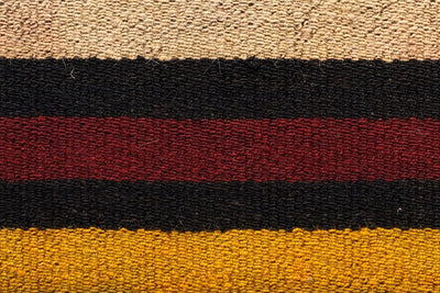 CLEARANCE 16x16 Vintage Hand Woven Kilim Pillow 548  ,black, beige, yellow,claret red, orange, striped - kilimpillowstore  - 2