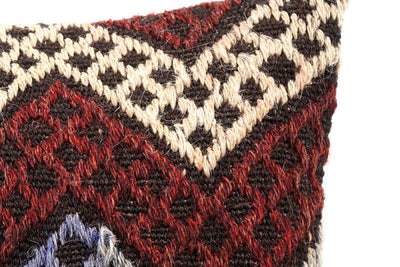 CLEARANCE 16x16 Vintage Hand Woven Kilim Pillow  484,white,red,green,blue,black,orange,claret red,chevron - kilimpillowstore  - 2