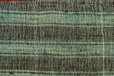 CLEARANCE 16x16 Vintage Hand Woven Kilim Pillow 660 green red black patchwork striped - kilimpillowstore  - 2