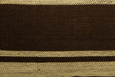 CLEARANCE 12x24 Vintage Hand Woven Kilim Pillow Lumbar 685 beige brown camel striped - kilimpillowstore  - 3