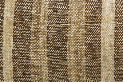 CLEARANCE 12x24 Vintage Hand Woven Kilim Pillow Lumbar 737 beige brown ivory cream striped - kilimpillowstore  - 3