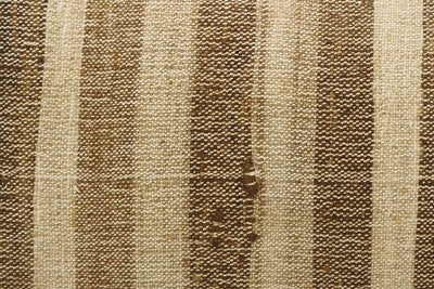CLEARANCE 12x24 Vintage Hand Woven Kilim Pillow Lumbar 744 beige brown ivory cream striped - kilimpillowstore  - 3