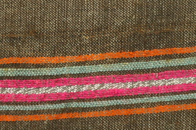 CLEARANCE 16x16  Hand Woven wool striped  Kilim Pillow  cushion 1110_A Wool pillow ,striped,pink,brown,orange - kilimpillowstore  - 3