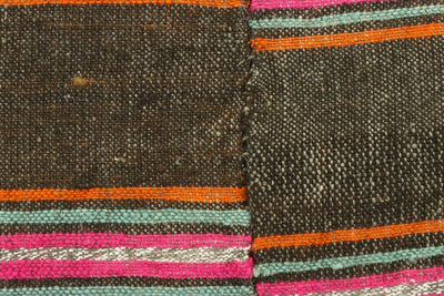 CLEARANCE 16x16  Hand Woven wool striped  Kilim Pillow  cushion 1108_A Wool pillow ,striped,pink,brown,orange - kilimpillowstore  - 3