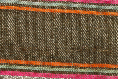 CLEARANCE 16x16  Hand Woven wool striped  Kilim Pillow  cushion 1109_A Wool pillow ,striped,pink,brown,orange - kilimpillowstore  - 3