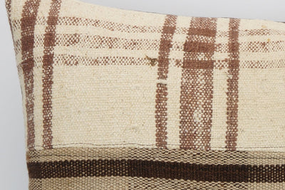 CLEARANCE 16x16 Hand Woven wool tribal ethnic patchwork  plaid Kilim Pillow cushion 1294 - kilimpillowstore  - 3