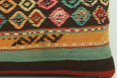 CLEARANCE 16x16 Hand Woven wool tribal ethnic patchwork  Kilim Pillow cushion 986 - kilimpillowstore  - 4