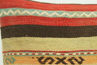 CLEARANCE 16x16 Hand Woven wool tribal ethnic patchwork  Kilim Pillow cushion 986 - kilimpillowstore  - 3
