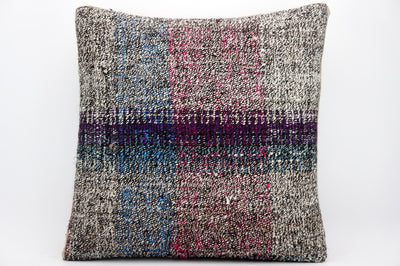 CLEARANCE 16x16 Hand Woven wool tribal ethnic dotted  Kilim Pillow cushion 1338_A - kilimpillowstore  - 1
