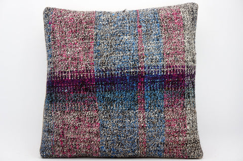 CLEARANCE 16x16 Hand Woven wool tribal ethnic dotted  Kilim Pillow cushion 1339_A - kilimpillowstore  - 1