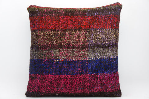 CLEARANCE 16x16 Hand Woven wool tribal ethnic dotted  Kilim Pillow cushion 1351_A - kilimpillowstore  - 1