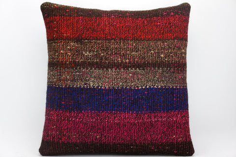 CLEARANCE 16x16 Hand Woven wool tribal ethnic dotted  Kilim Pillow cushion 1352_A - kilimpillowstore  - 1