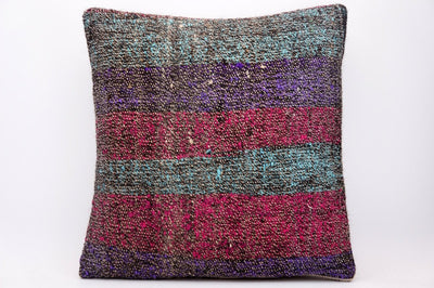 CLEARANCE 16x16 Hand Woven wool tribal ethnic dotted  Kilim Pillow cushion 1340_A - kilimpillowstore  - 1