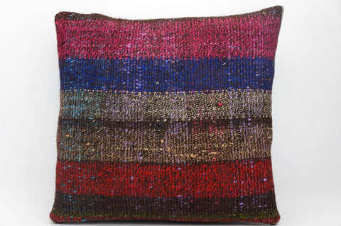 CLEARANCE 16x16 Hand Woven wool tribal ethnic dotted  Kilim Pillow cushion 1341_A - kilimpillowstore  - 1