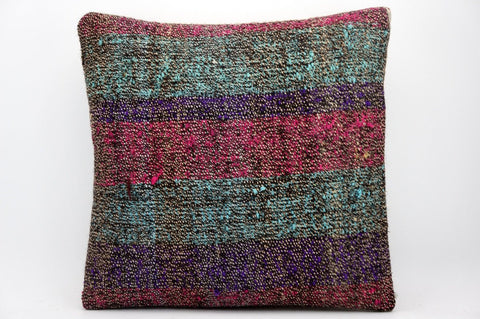 CLEARANCE 16x16 Hand Woven wool tribal ethnic dotted  Kilim Pillow cushion 1343_A - kilimpillowstore  - 1