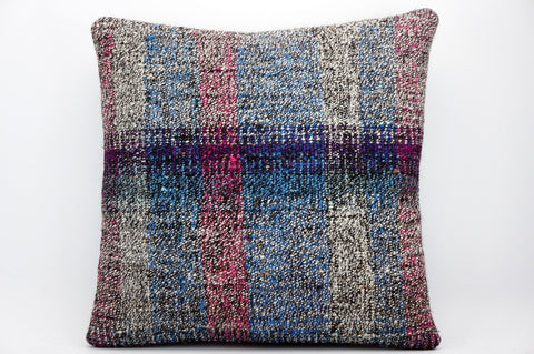 CLEARANCE 16x16 Hand Woven wool tribal ethnic dotted  Kilim Pillow cushion 1347_A - kilimpillowstore  - 1