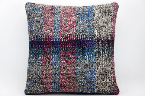 CLEARANCE 16x16 Hand Woven wool tribal ethnic dotted  Kilim Pillow cushion 1349_A - kilimpillowstore  - 1