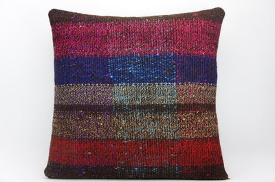 CLEARANCE 16x16 Hand Woven wool tribal ethnic dotted  Kilim Pillow cushion 1350_A - kilimpillowstore  - 1