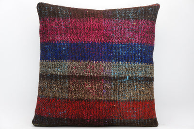 CLEARANCE 16x16 Hand Woven wool tribal ethnic dotted  Kilim Pillow cushion 1353_A - kilimpillowstore  - 1