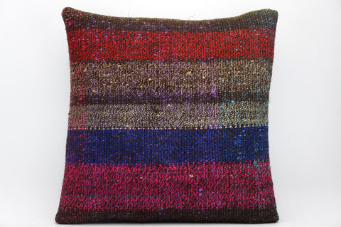 CLEARANCE 16x16 Hand Woven wool tribal ethnic dotted  Kilim Pillow cushion 1354_A - kilimpillowstore  - 1