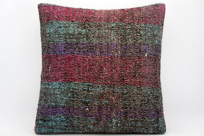 CLEARANCE 16x16 Hand Woven wool tribal ethnic dotted  Kilim Pillow cushion 1357_A - kilimpillowstore  - 1