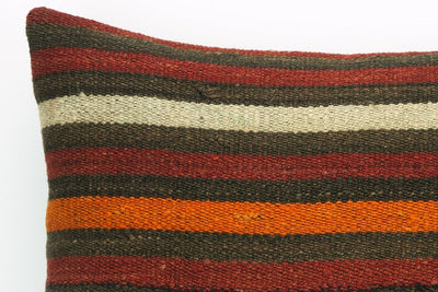 CLEARANCE Striped pillow cover , Decorative kilim pillow, 16x16 kilim pillow  1410 - kilimpillowstore  - 3