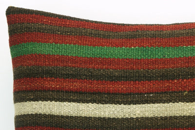 CLEARANCE Striped pillow cover , Decorative kilim pillow, 16x16 kilim pillow  1411 - kilimpillowstore  - 3