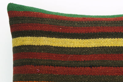 CLEARANCE Striped kilim pillow cover , Old kilim pillow, 16x16 kilim pillow  1412 - kilimpillowstore  - 3