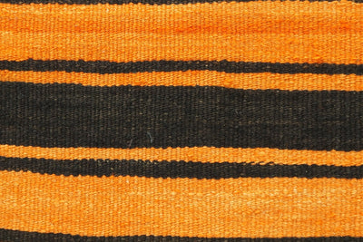 CLEARANCE Black striped Orange red pillow cover  , Kilim pillow orange , 16x16 pillow   1430 - kilimpillowstore  - 2