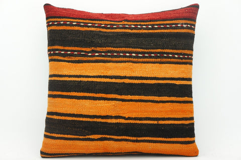 CLEARANCE Striped kilim pillow black, Decorative turkish kilim pillow    1439 - kilimpillowstore  - 1