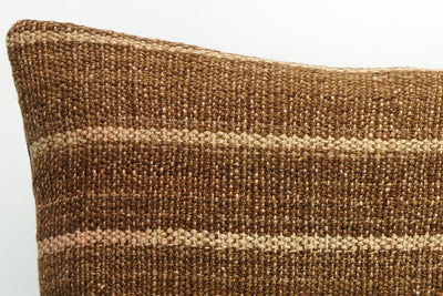 CLEARANCE Kilim pillow brown  ,decorative patchwork pillow cover brown 1447 - kilimpillowstore  - 3