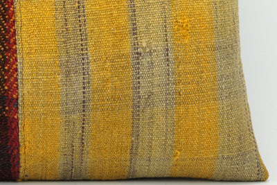 CLEARANCE Decorative patchwork pillow cover made from old kilims  yellow 1450 - kilimpillowstore  - 4