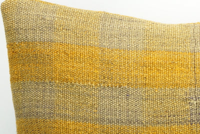 CLEARANCE Decorative patchwork pillow cover made from old kilims  yellow 1450 - kilimpillowstore  - 3