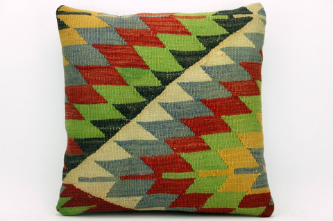 CLEARANCE Geometric chevron kilim  pillow , Ethnic pillow cover  1397 - kilimpillowstore  - 1