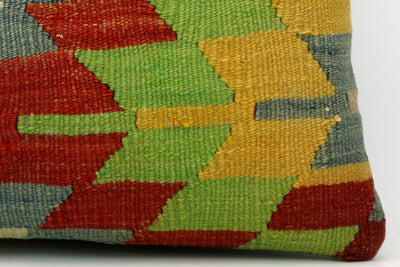 CLEARANCE Geometric chevron kilim  pillow , Ethnic pillow cover  1397 - kilimpillowstore  - 4