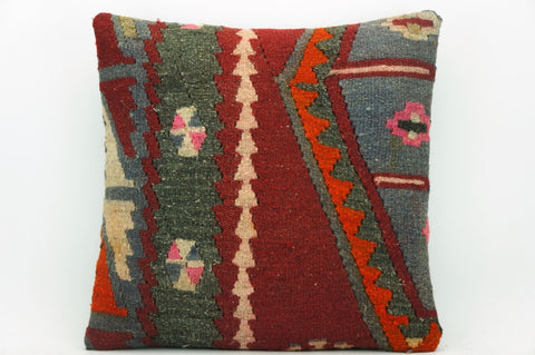 CLEARANCE Kilim pillow cover gray , Decorative kilim pillow, Ethnic pillow 1402 - kilimpillowstore  - 1