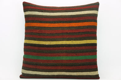 CLEARANCE Striped pillow cover , Decorative kilim pillow, 16x16 kilim pillow  1410 - kilimpillowstore  - 1