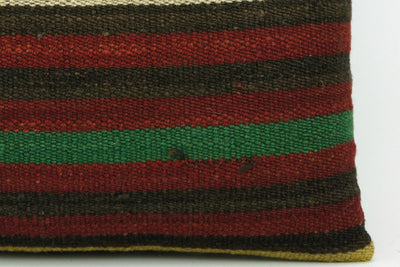 CLEARANCE Striped kilim pillow cover , Old kilim pillow, 16x16 kilim pillow  1412 - kilimpillowstore  - 4