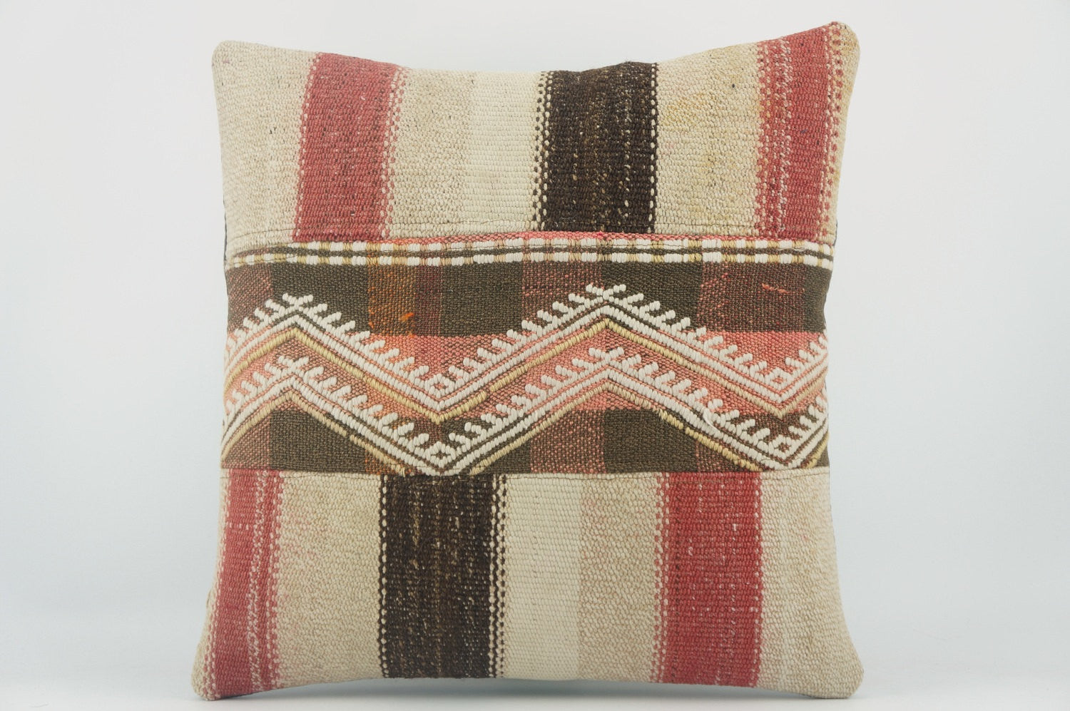 Chevron  Kilim pillow  , Decorative patchwork pillow  1498 - kilimpillowstore  - 1
