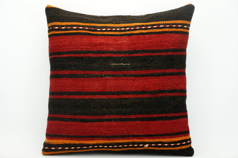 CLEARANCE Striped pillow  red  , Kilim pillow red ,    1435 - kilimpillowstore  - 1