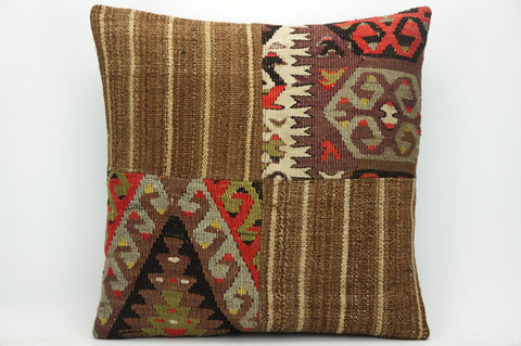 CLEARANCE Patchwork pillow cover made from old kilims  1448 - kilimpillowstore  - 1