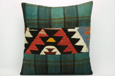 CLEARANCE Decorative Geometric Kilim pillow ,  patchwork pillow 1468 - kilimpillowstore  - 1