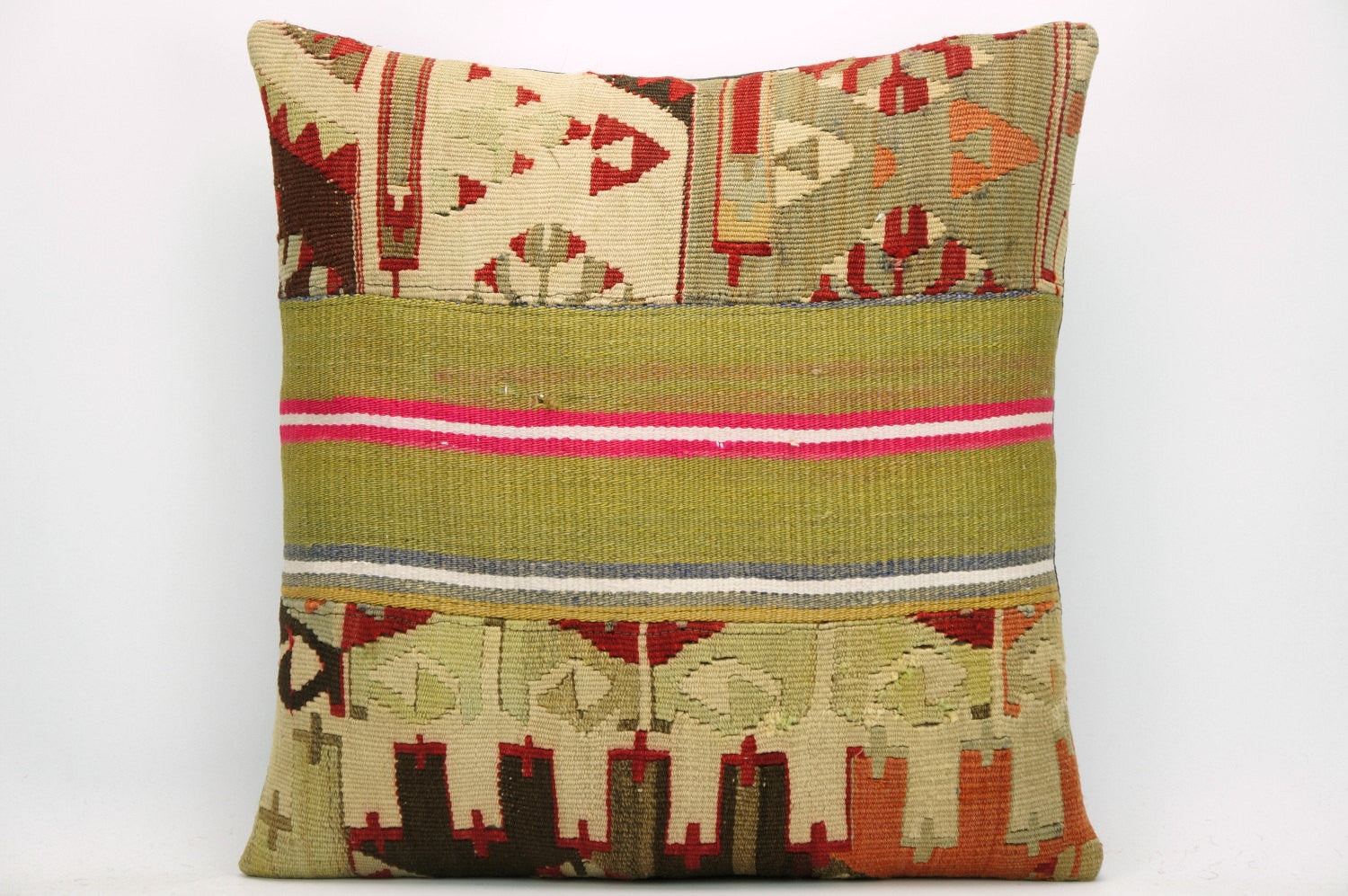 CLEARANCE Tribal Kilim pillow ,  patchwork pillow  1473 - kilimpillowstore  - 1